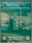 Sonora Sunrise Rotary Park Credits