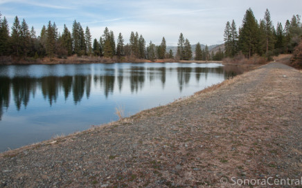 Dam on south side of forebay
