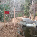 Private Property Gate on Main Tuolumne Ditch Trail