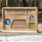 Beardsley Boat Launch Sign