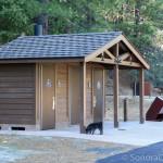 Restroom at Beardsley Dam Campground