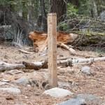 Trail Marker to Catfish Lake