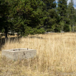 Concrete well at Wheat's Meadow